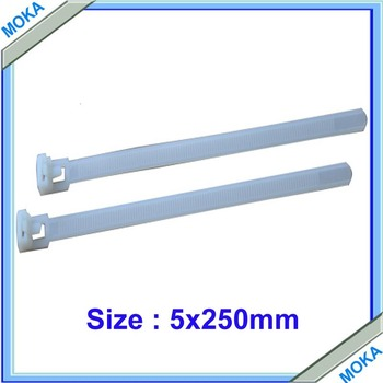 250 PCS 5*250mm work Temperature from -35 to 85 cable ties, selflock plastic ties