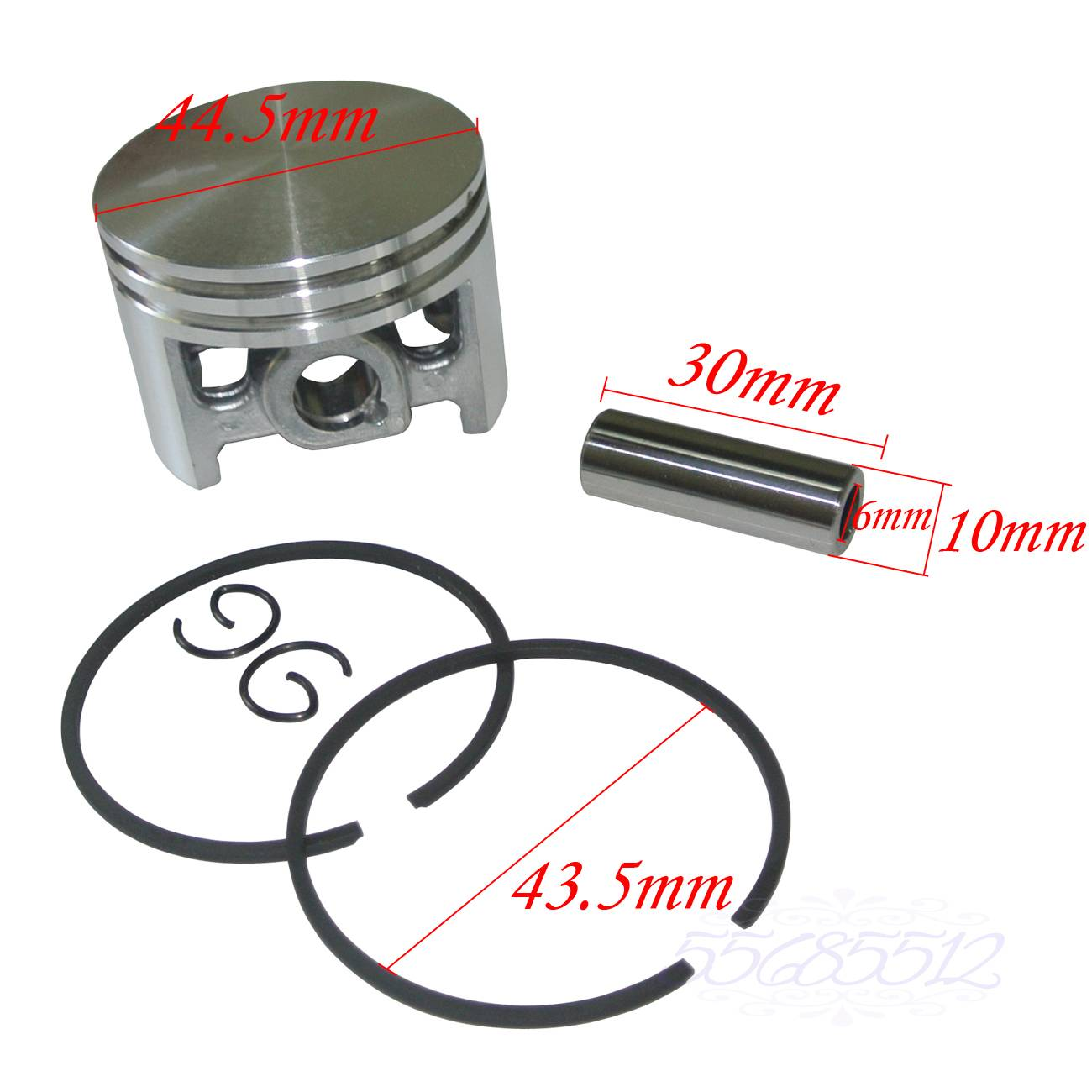 44mm Piston ve Halkalar Kiti Fit Stihl 026 MS260 MS260C 026 PRO Testereler 3